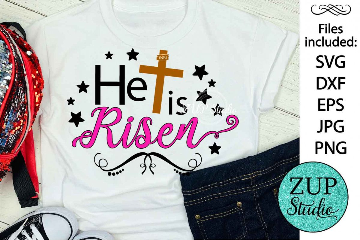He is risen Cutting files svg design 54 example image 1