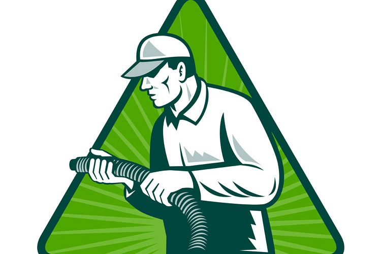 tradesman home insulation technician with hose example image 1