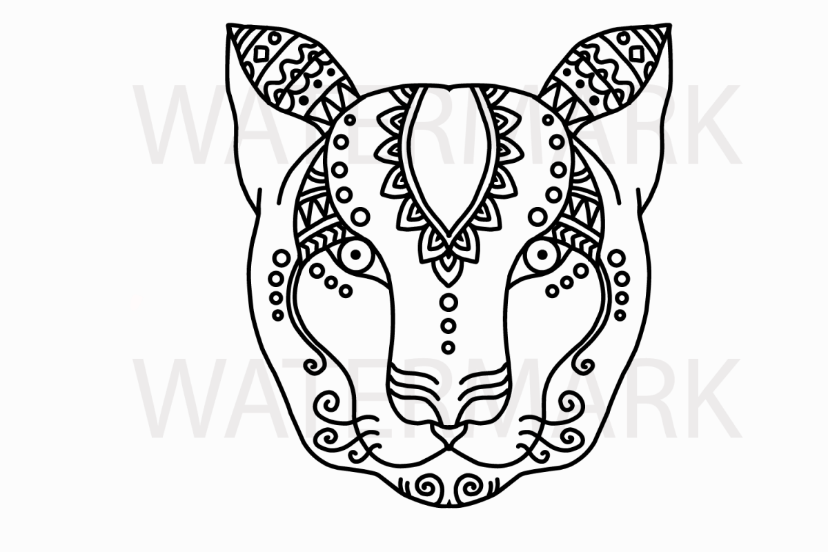 Outline animal face svg jpg hand drawing example image 1