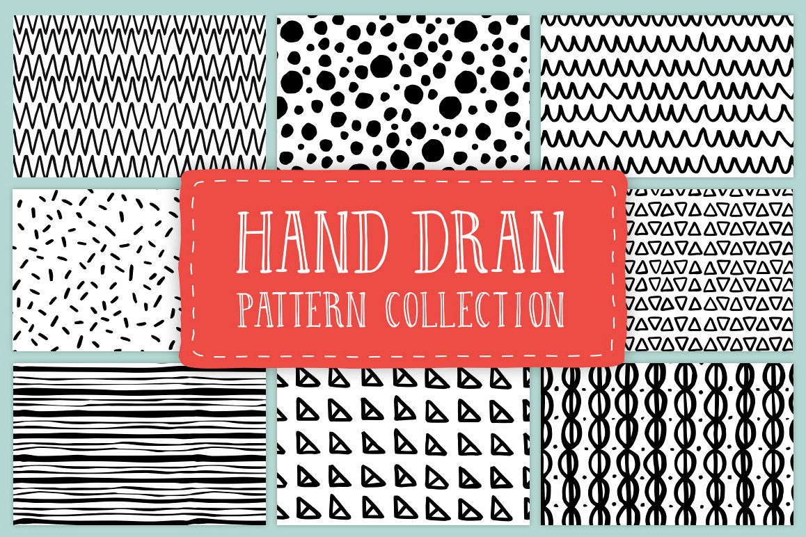 Hand drawn pattern collection example image 1