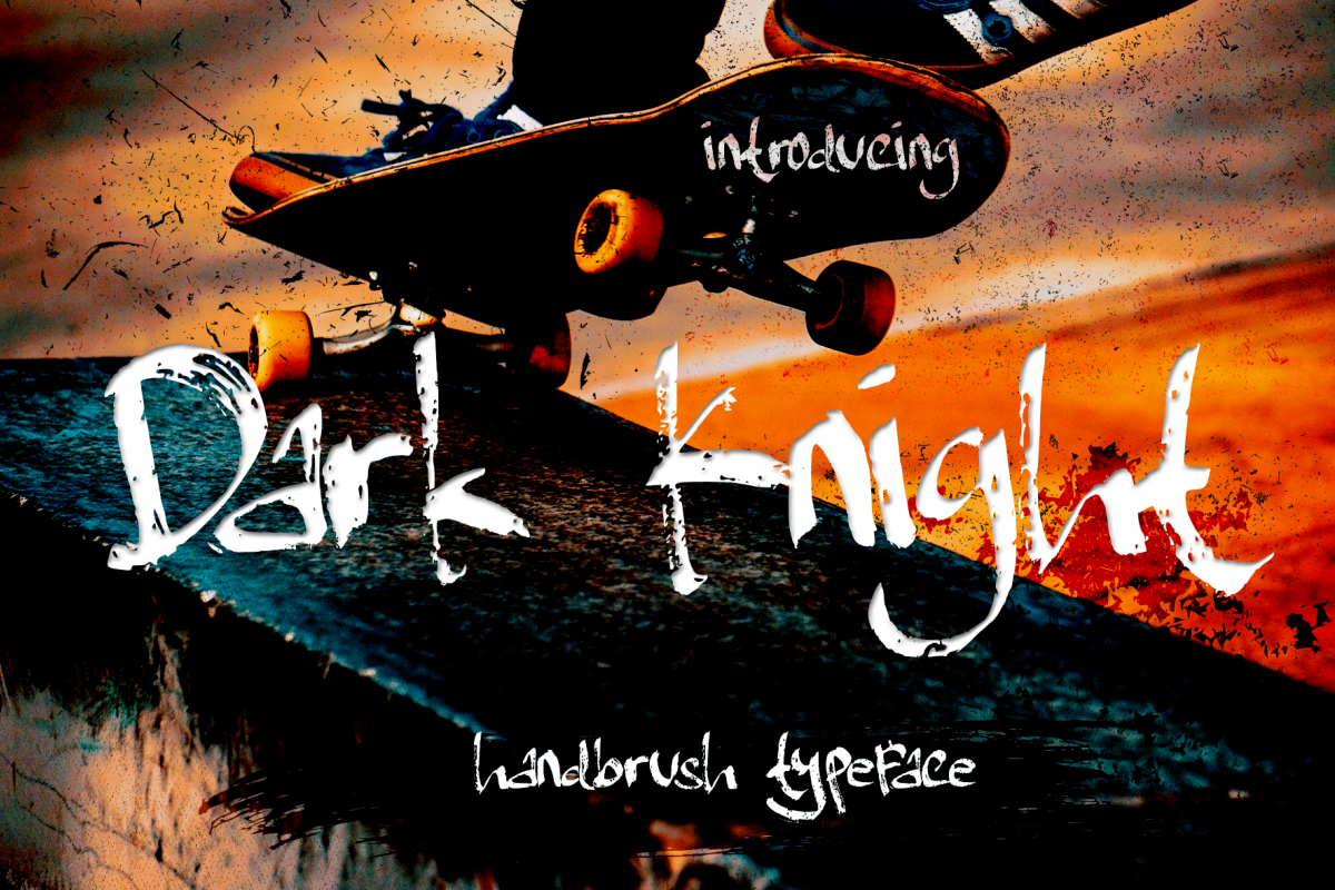 Dark Knight - handbrush Typeface example image 1