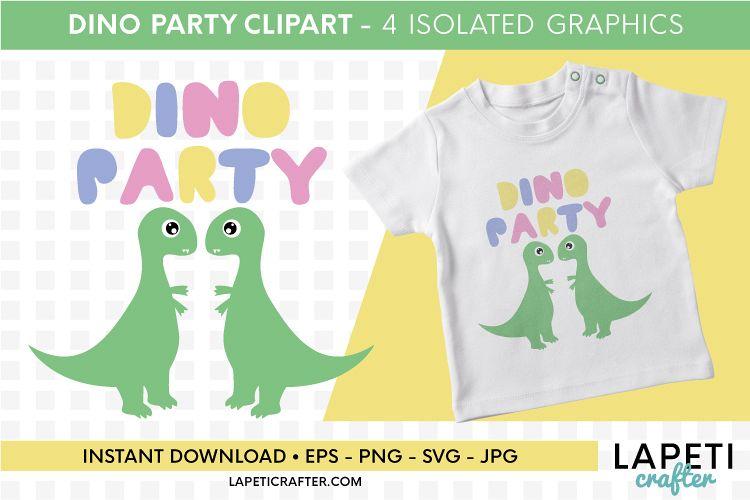 Dinosaur clipart for kids, dinosaur svg, eps, jpg, png files example image 1