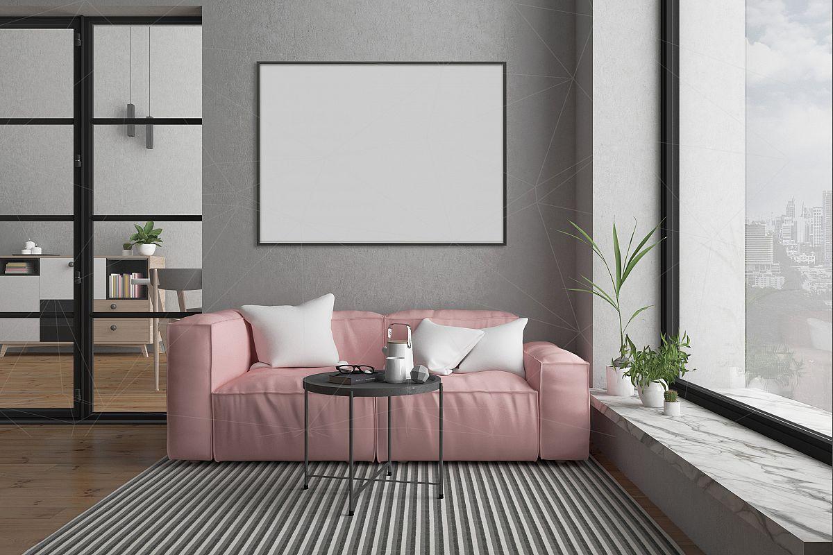 Interior mockup bundle - blank wall mock up ex&le image 1 & Interior mockup bundle - blank wall mock up