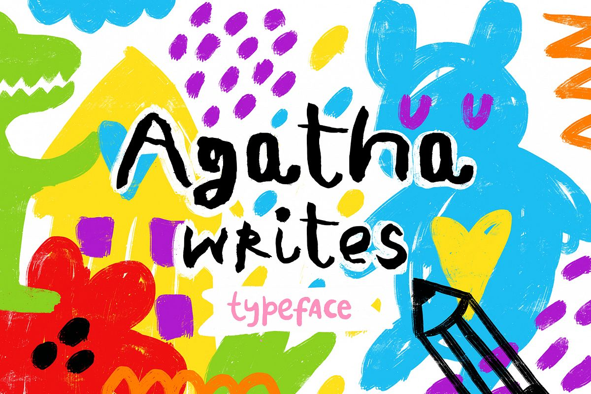 Agatha Writes - Hand Drawn Typeface example image 1