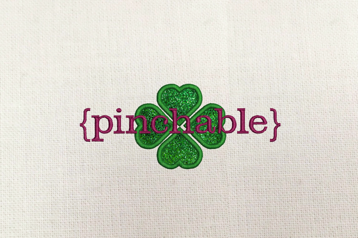 St. Patrick's Day Pinchable Applique Embroidery Design example image 1