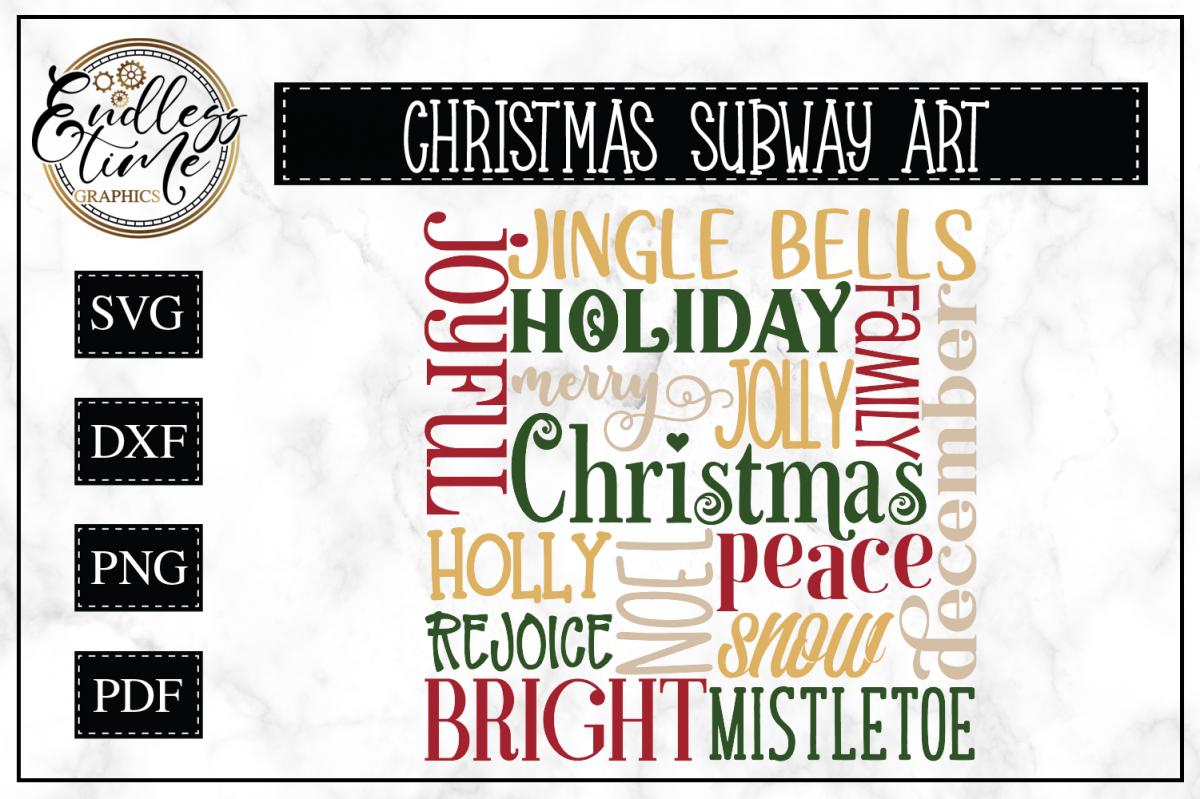 Christmas Subway Art Svg.Christmas Word Cloud Subway Art