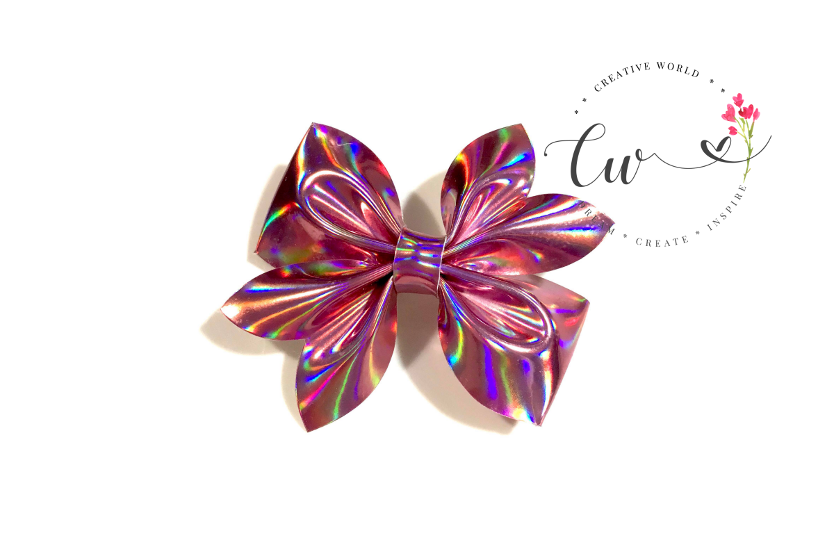 New Classic Pinch Hair Bow Digital Template |Bow Template example image 1