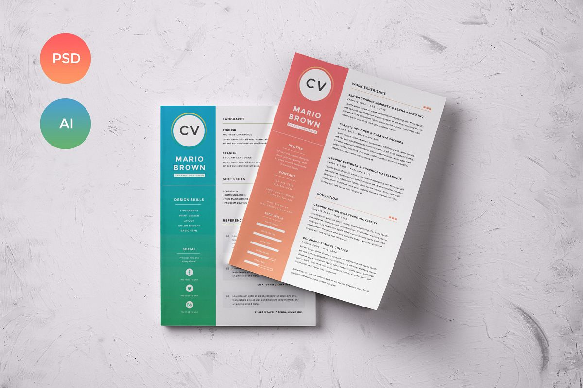 Resume Template 3 pages   CV example image 1