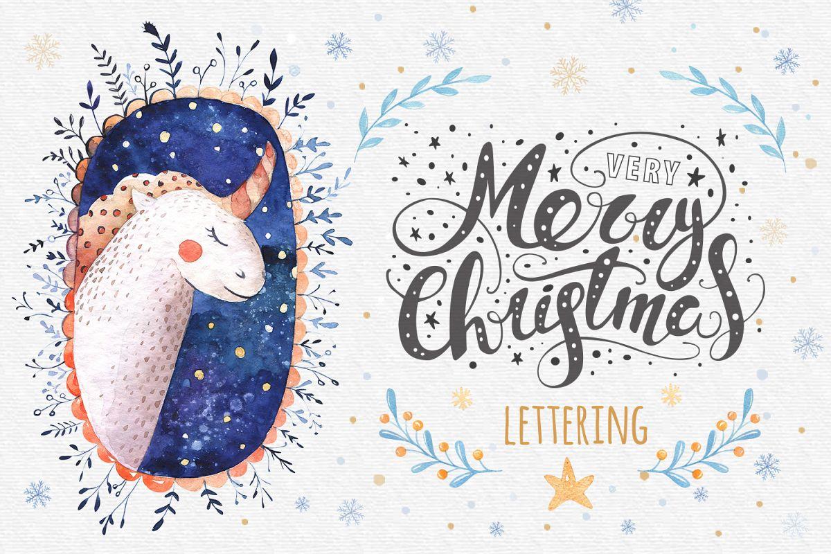 Vector Christmas lettering + bonus example image 1