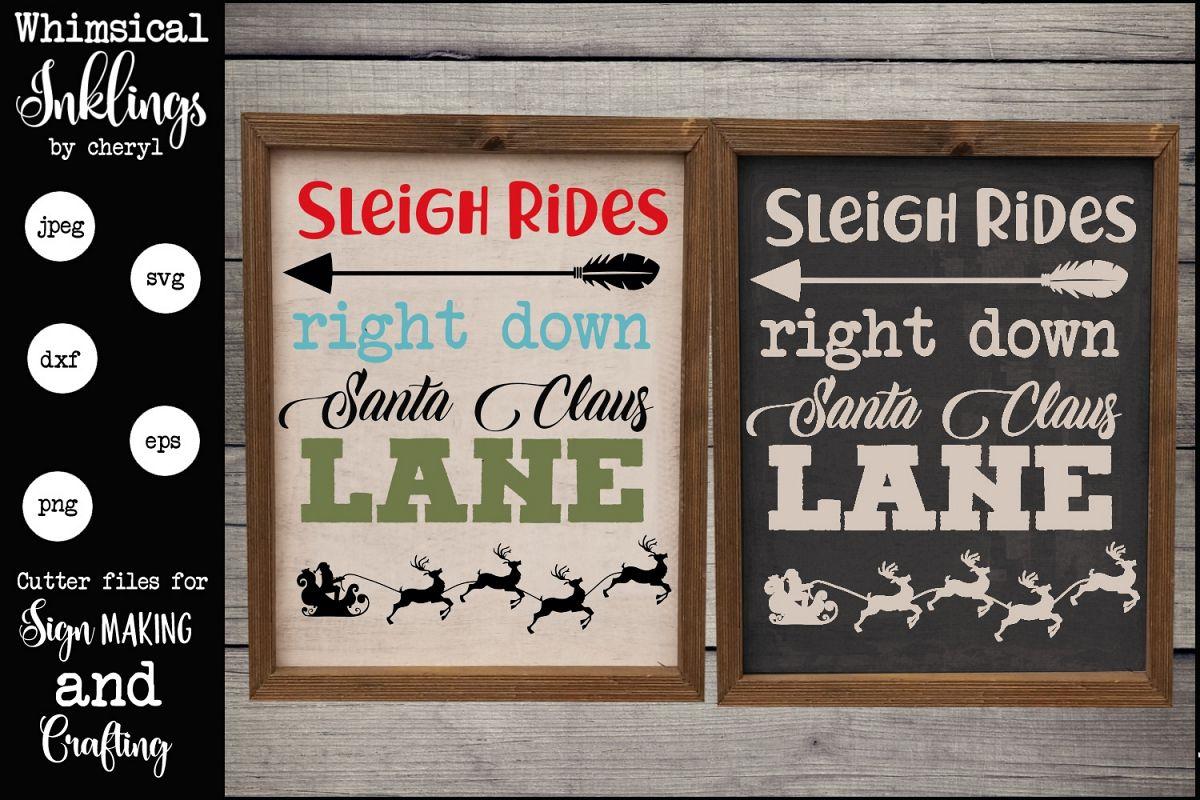 Right Down Santa Claus Lane SVG example image 1
