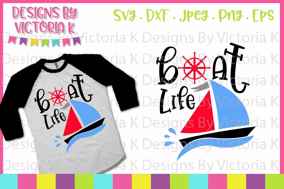Boat life, Boat, Lake, Boat Monogram, SVG, DXF, PNG example image 1