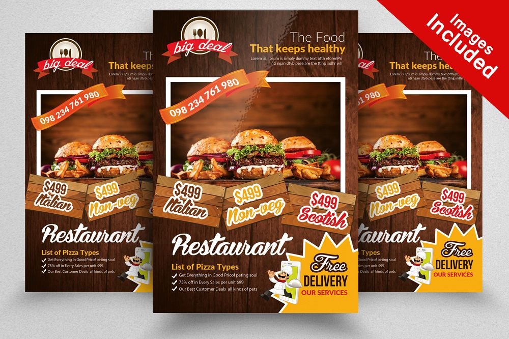 Restaurant Menu Flyer Template By Desig Design Bundles - Menu brochure template