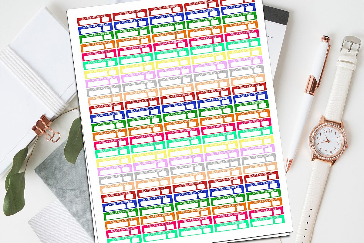 Doctor Appointment Printable Planner Stickers example image 1
