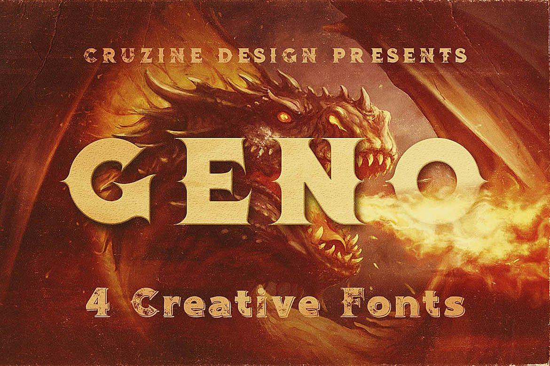 Geno Typeface example image 1