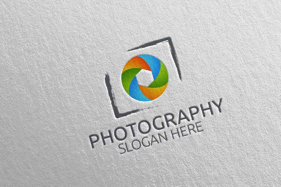 Abstract Camera Photography Logo 4 example image 1