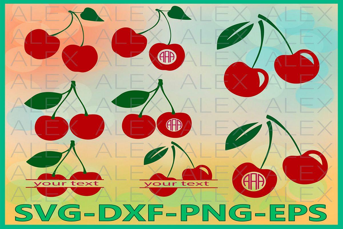 Cherry SVG, Cherry Monogram Svg, Cherry Svg Files example image 1