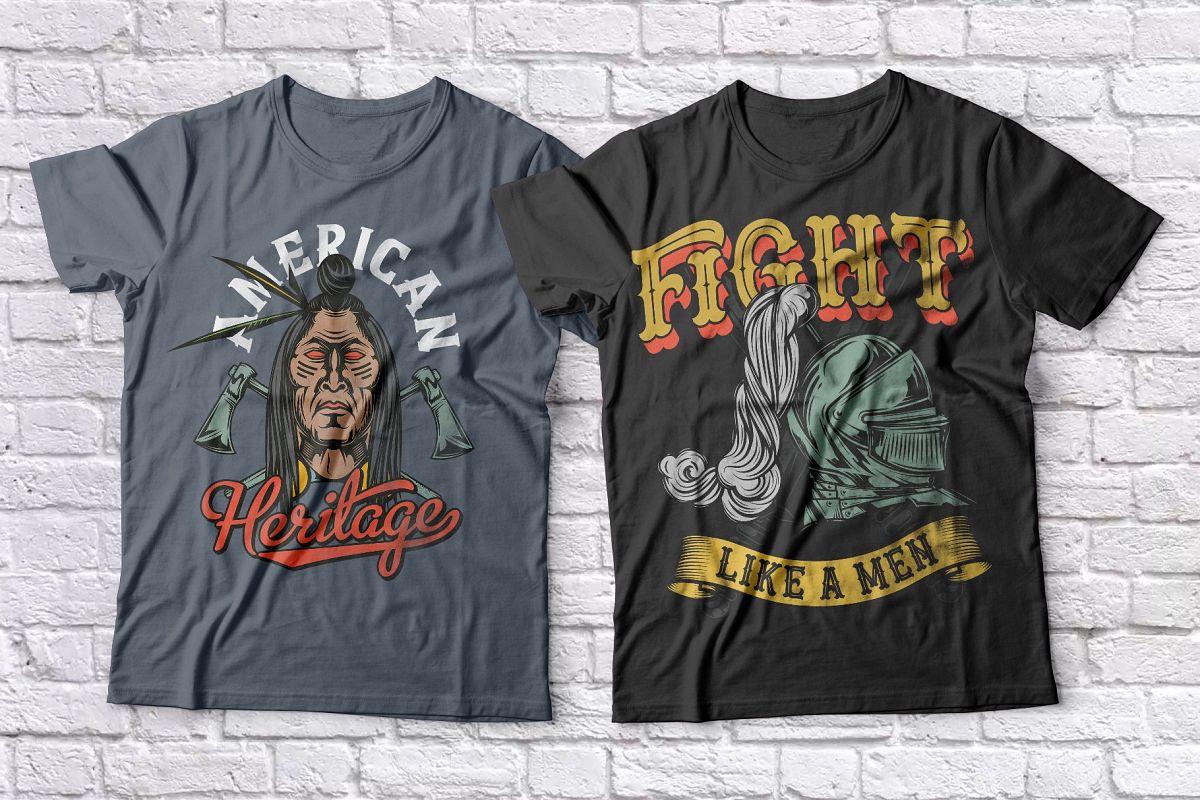 Warriors t-shirts set example image 1