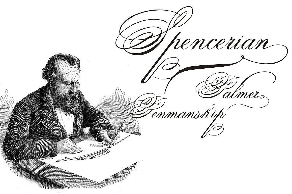 Spencerian Palmer Penmanship PRO example image 1