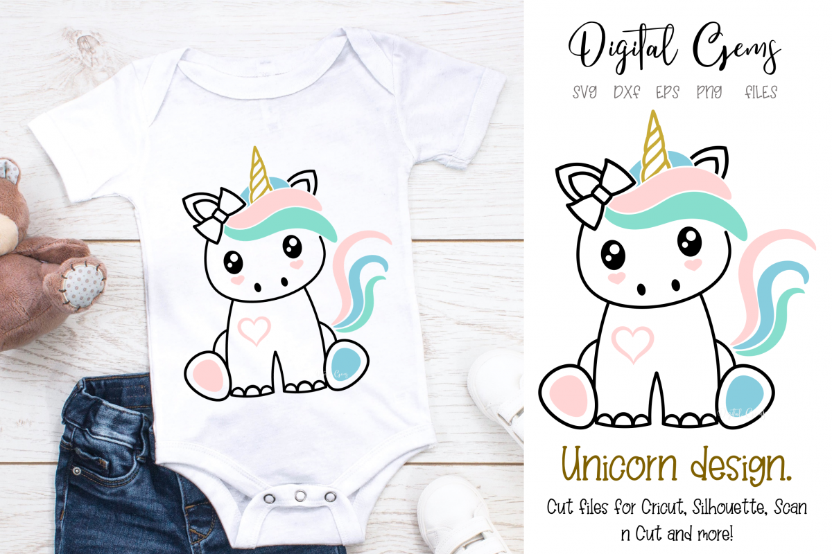 Unicorn design SVG / DXF / EPS / PNG files example image 1