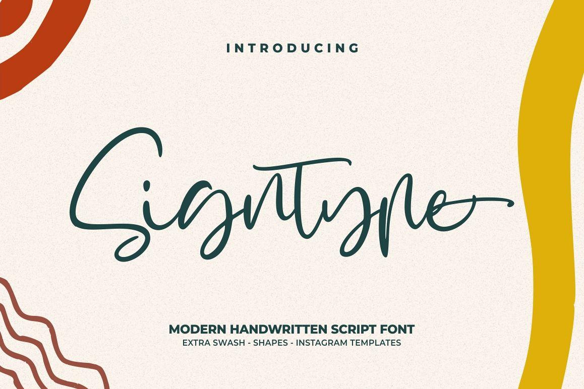 Signtype - Modern Script example image 1