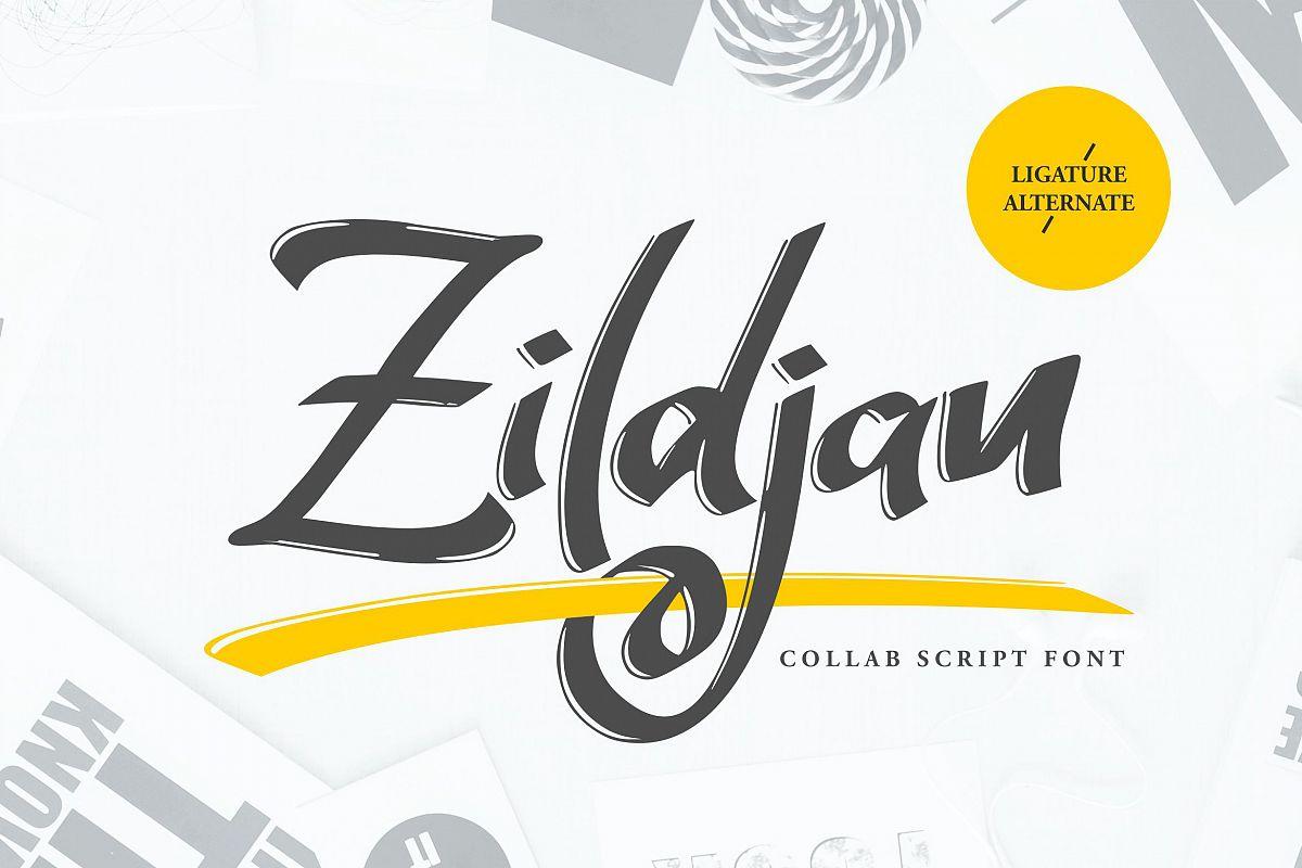 Zildjan | Script Brush Font example image 1