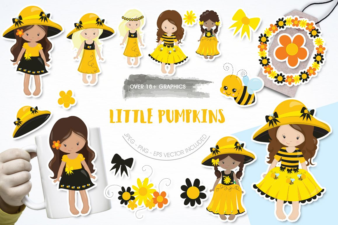 Little Pumpkins graphic and illustrations example image 1