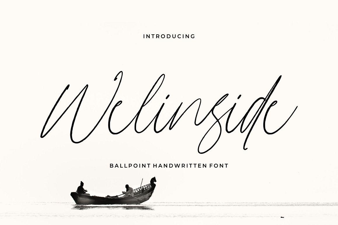 Wellinside - Handwritten Font example image 1