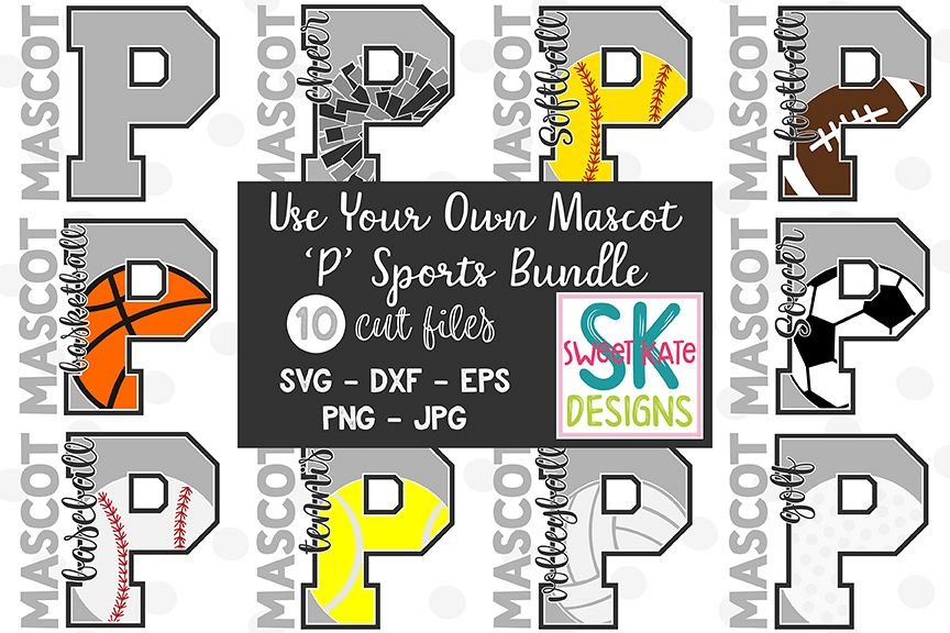 Your Own Mascot P SVG Bundle - 10 - SVG DXF EPS PNG JPG example image 1