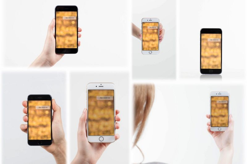 Set from 6 iPhone mockups example image 1