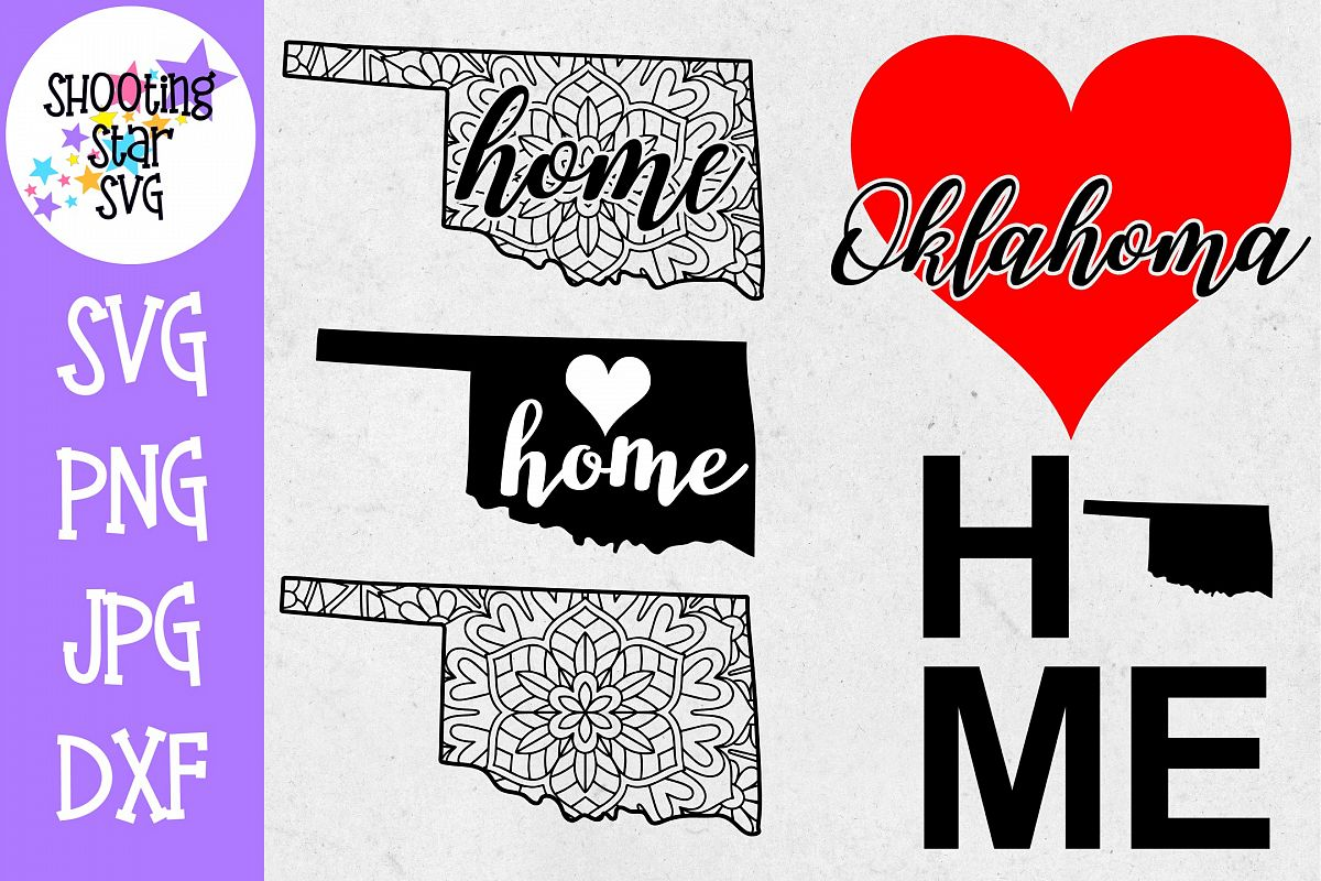 Oklahoma US State SVG Decal Bundle - 50 States SVG example image 1