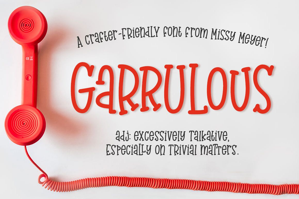 Garrulous - A tall, fun serif font! example image 1