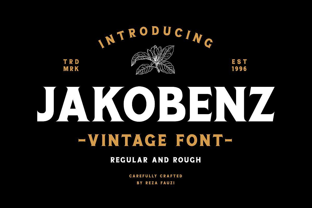 Jakobenz - Vintage Serif Font example image 1