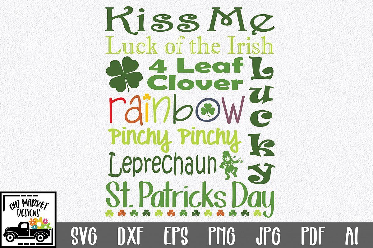 St Patricks Day Subway Art SVG Cut File example image 1