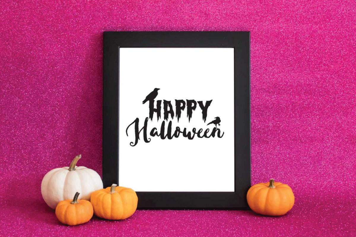 Happy Halloween Raven svg example image 1