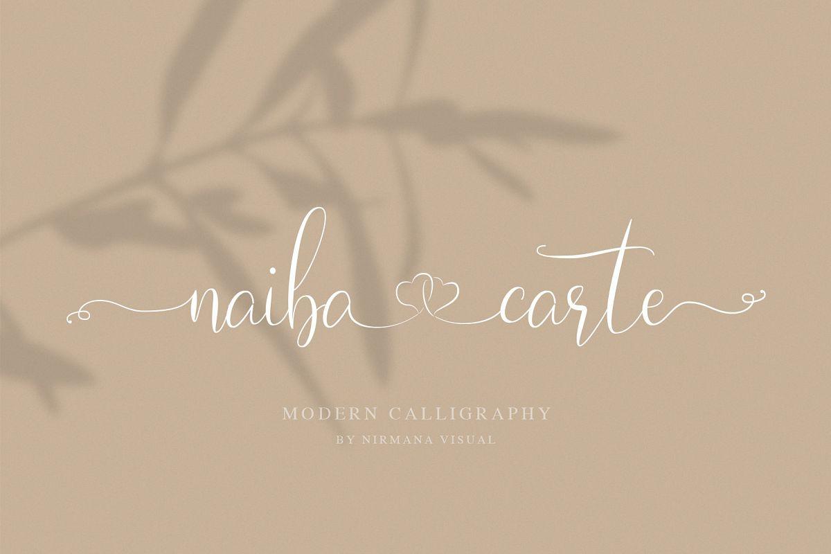 Naibacarte - Lovely Font example image 1