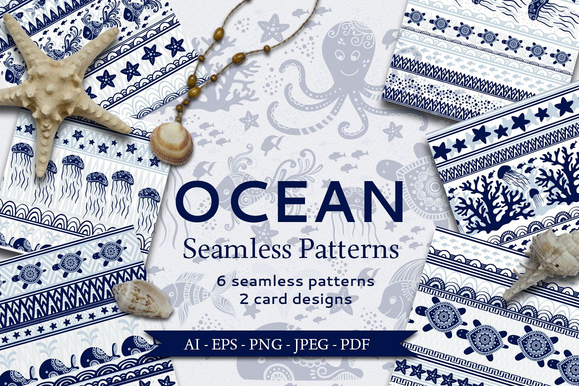 Ocean Seamless Patterns example image 1