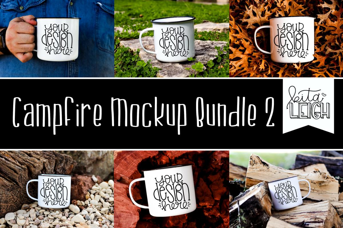 White Campfire Mug Mockup Bundle 2 example image 1