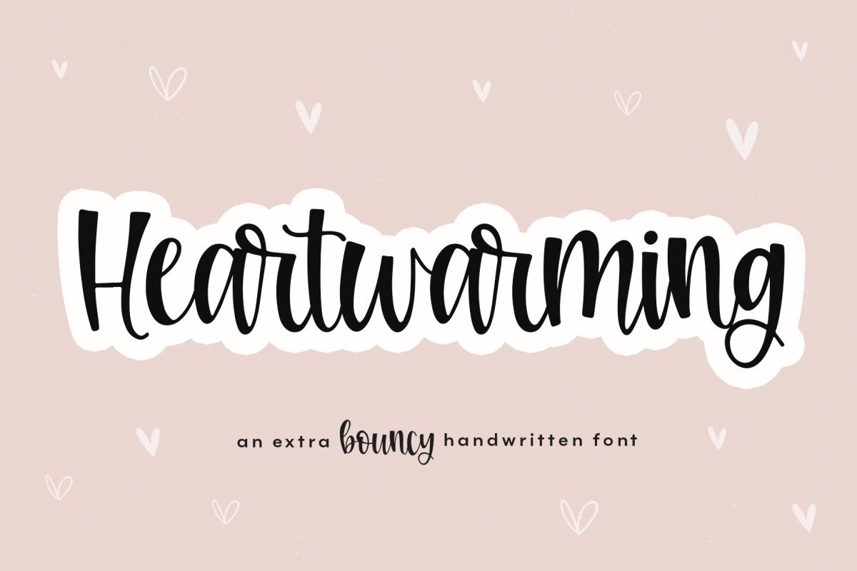 Heartwarming - A Bouncy Handwritten Script Font example image 1