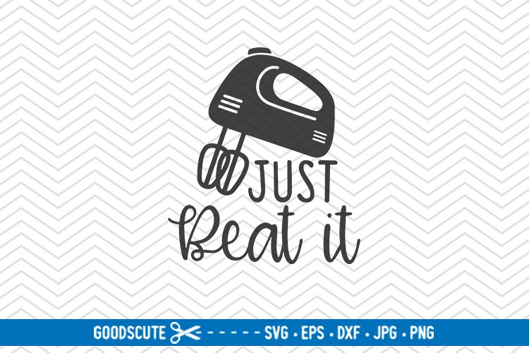 Just Beat It - SVG DXF JPG PNG EPS example image 1