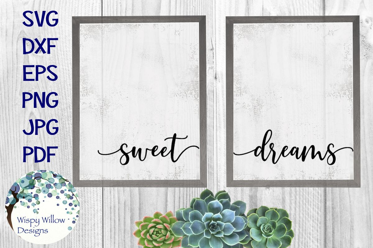 Sweet Dreams | Baby Nursery Sign SVG Cut File example image 1