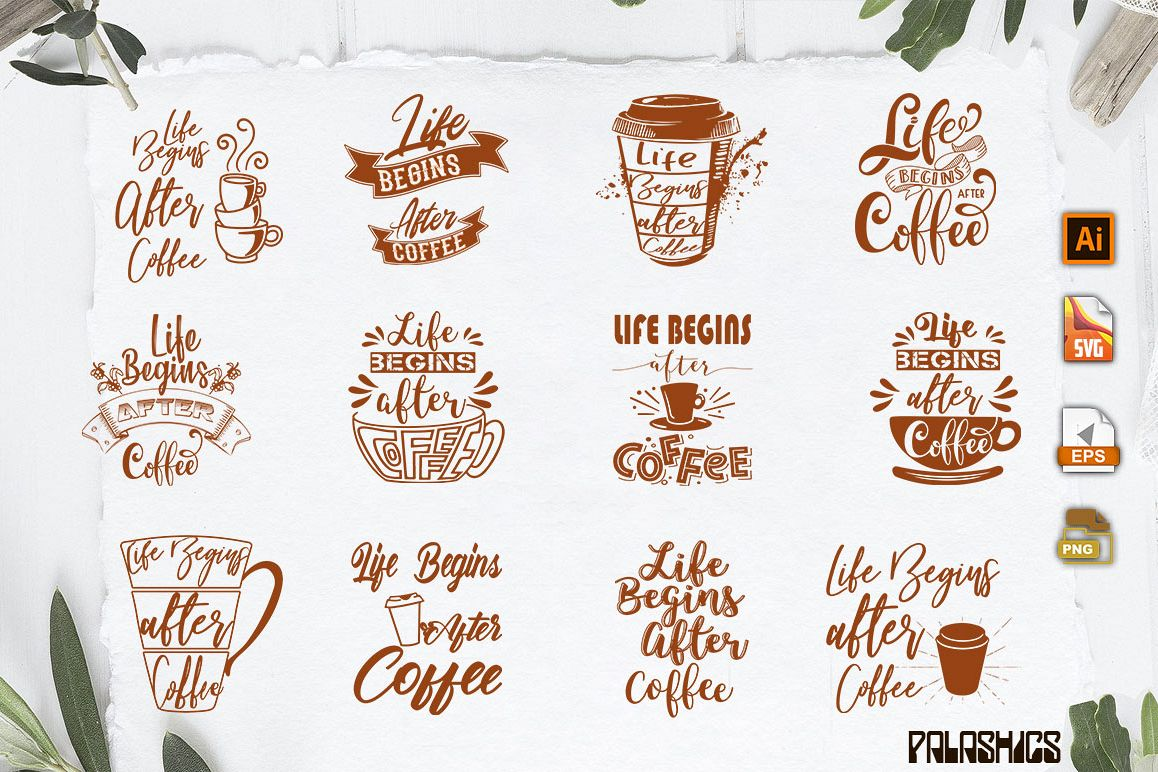 Coffee SVG one Quote 12 designs example image 1