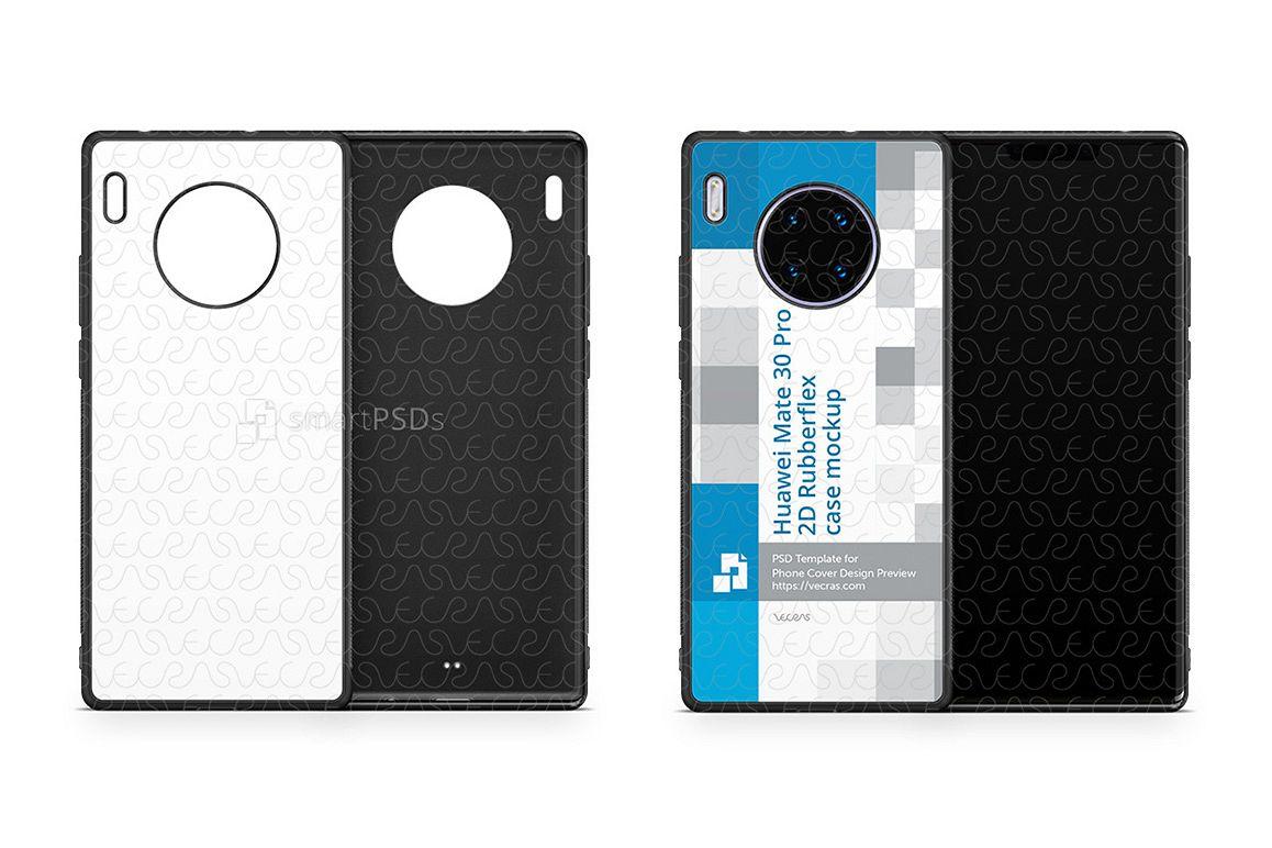 Huawei Mate 30 Pro 2019 2d Rubber Flex Case Design Mockup example image 1