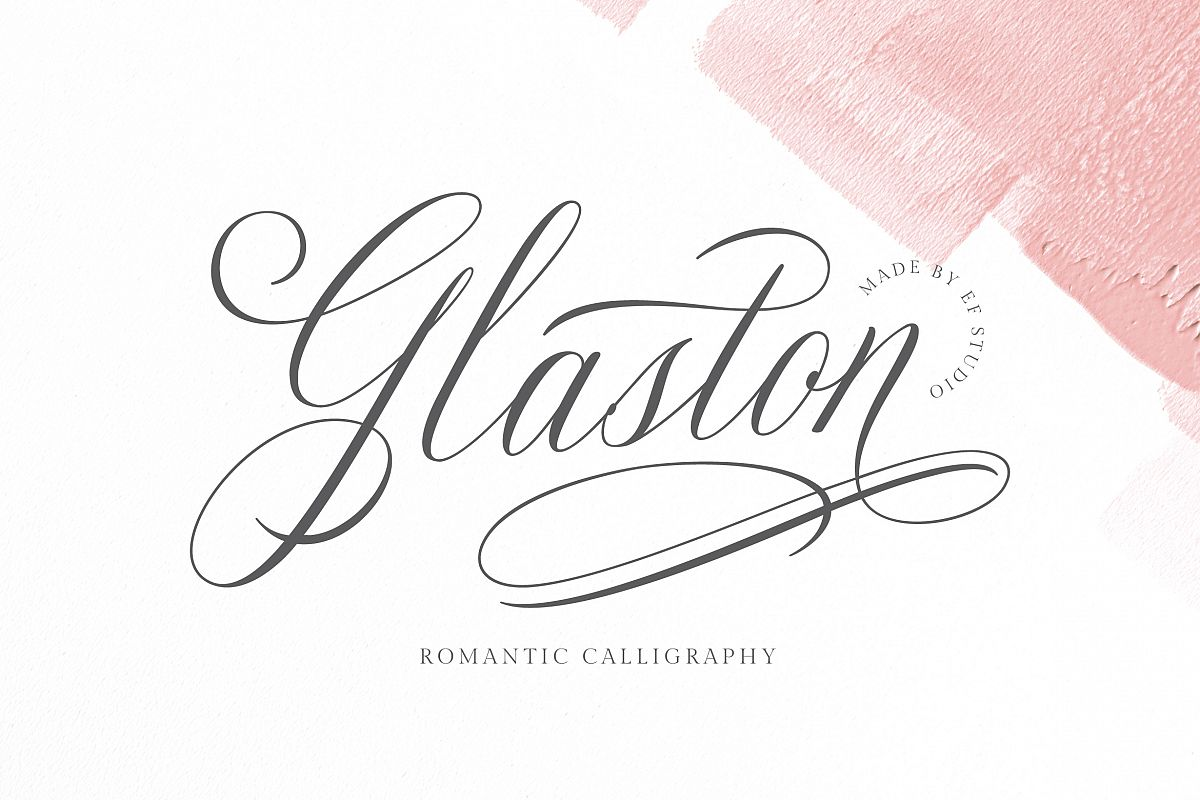 Glaston Romantic Calligraphy example image 1