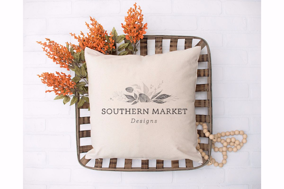 Fall Blank Pillow Mock Up Photo Stock Photography example image 1