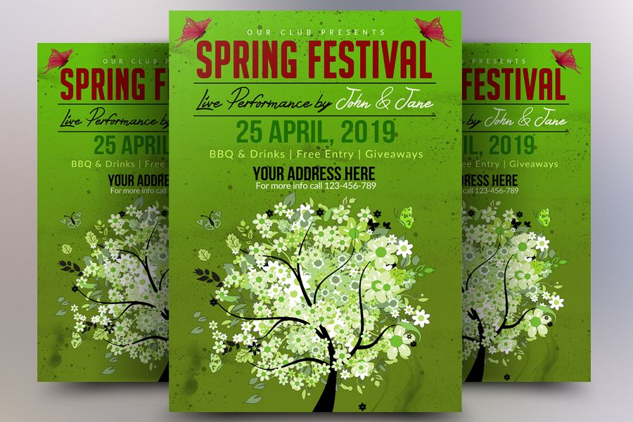 Spring Music Festival Flyer example image 1