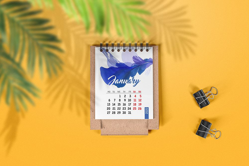 Mini Desk Calendar Mockup example image 1