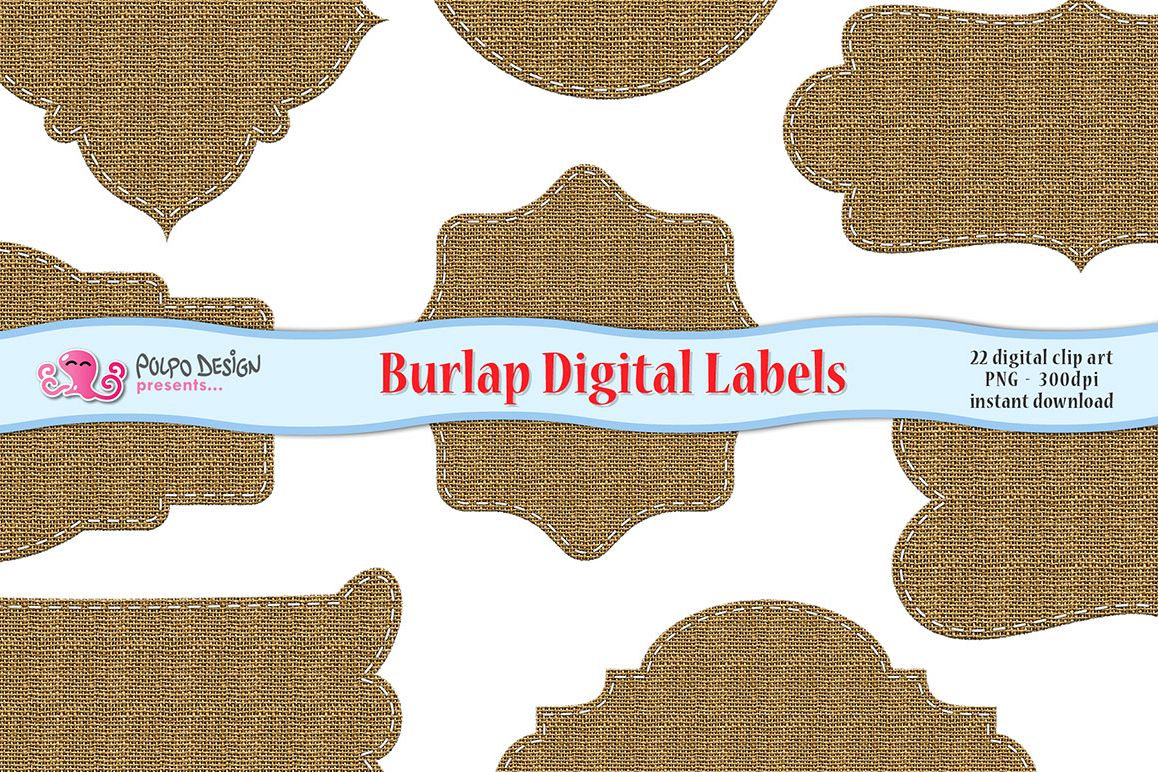 Burlap Digital Labels example image 1