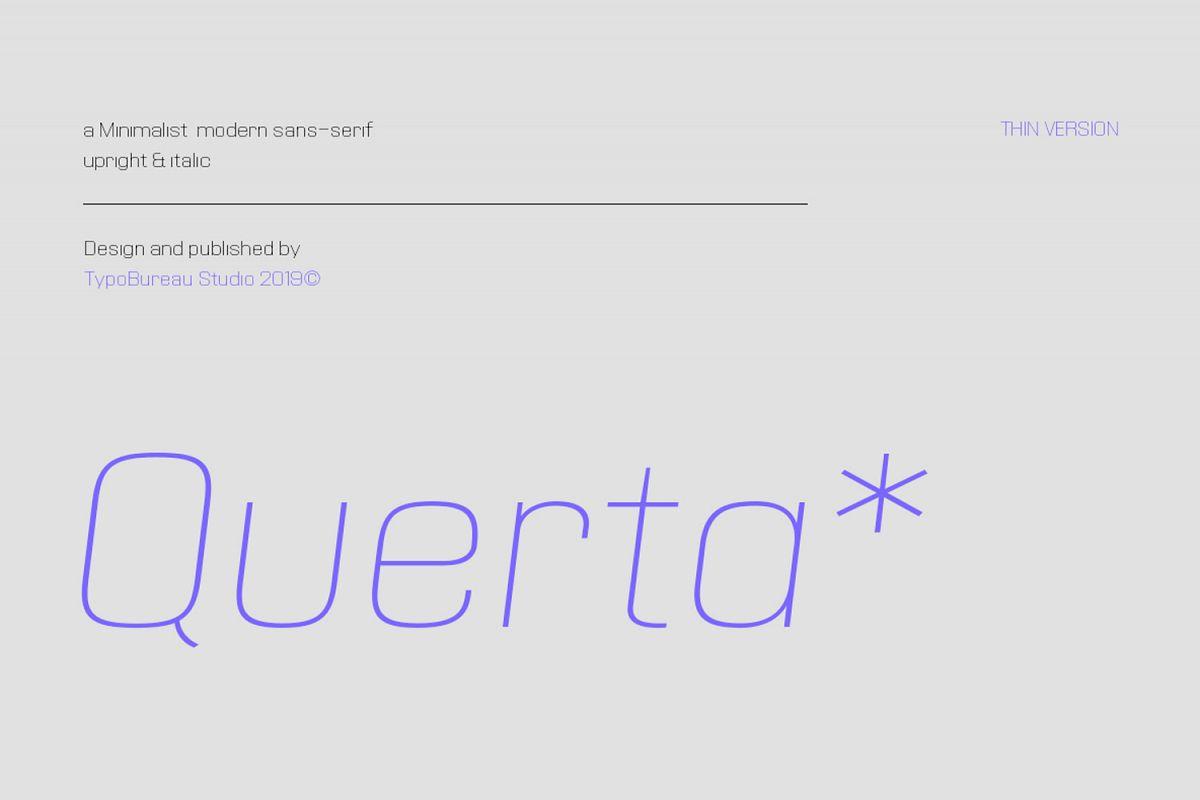 Querta - minimalist sans example image 1