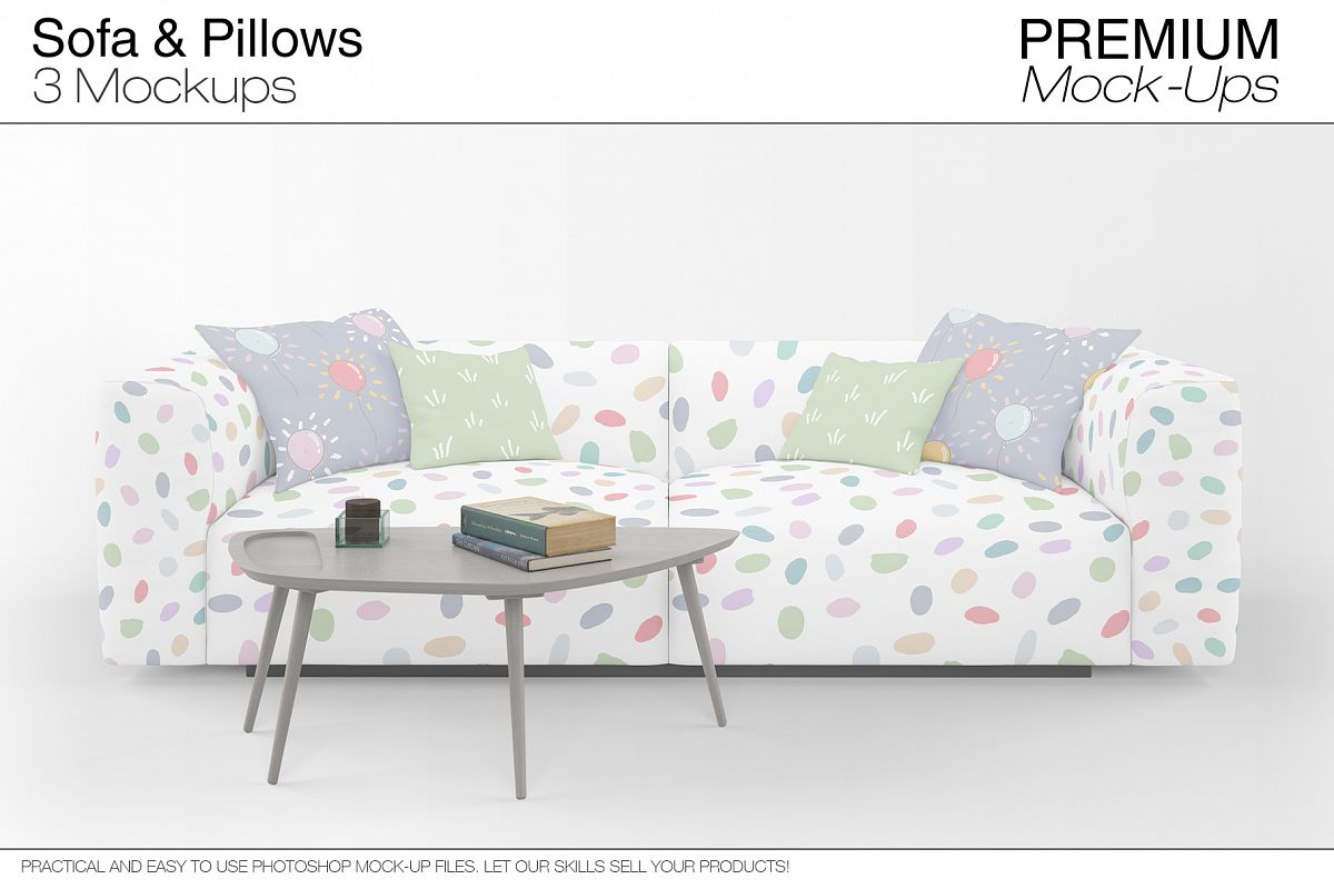 Sofa & Pillows Mockup Pack example image 1
