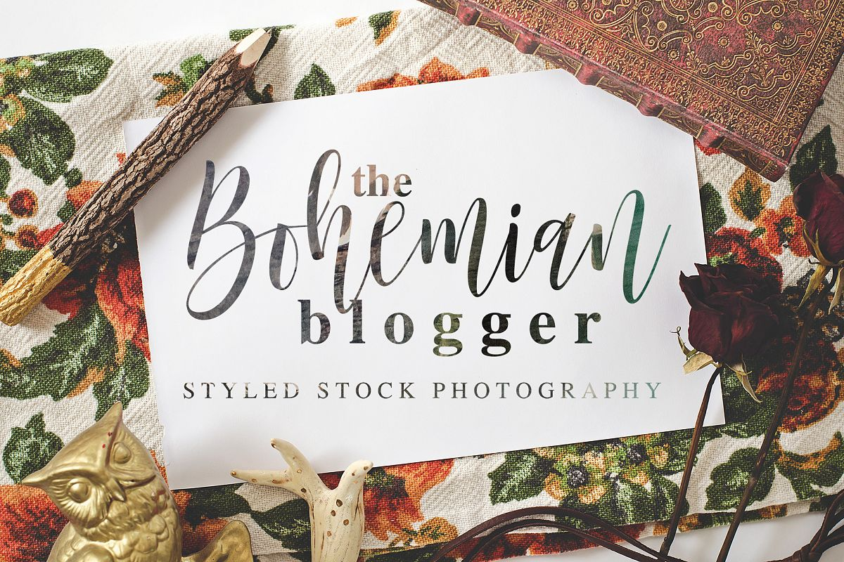 The Bohemian Blogger Stock Photography example image 1